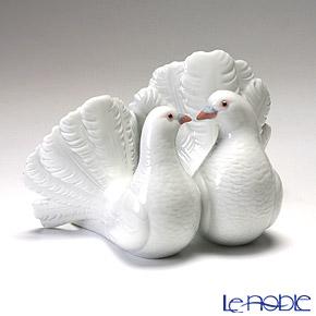 Lladro 'Couple of Doves (Bird)' 01169 Animal Figurine H13cm