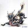 リヤドロ 臥龍(Blue&Gold) HIGH PORCELAIN01934 台座付