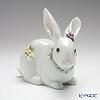リヤドロ 花飾りの白ウサギ206098