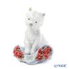 Lladro 'Playful Charactoer Special Version (Dog & Flower)' 09065 Animal Figurine H11.2cm