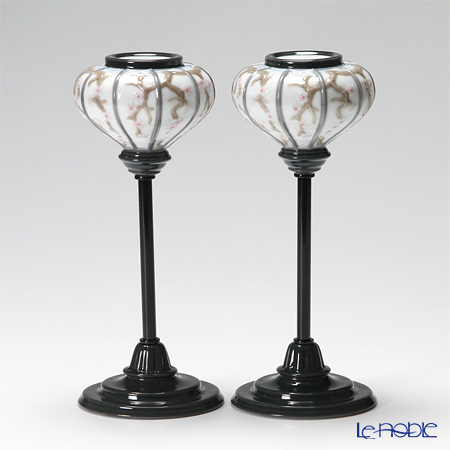 Lladro Japanese Lampstands (Pair) 08454