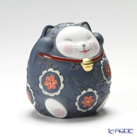 リヤドロ 招き猫 Blue08529
