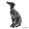 Lladro 'Attentive Greyhound (Dog)' Black 08605 Animal Figurine H30.5cm