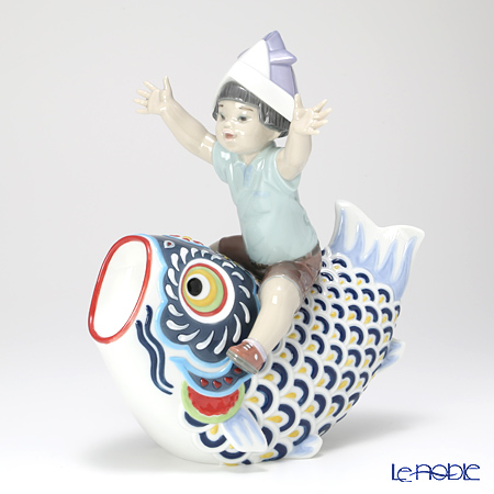 Lladro 'Happy Boy's Day (Riding Giant Carp) / Childrens' Day Japan' 08775 [LE3500] Figurine H25.5cm