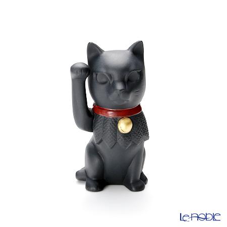 リヤドロ 招き猫 ブラック09166