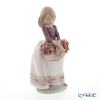 Lladro 'May Flowers Special Version (Carnation Basket)' 09178 Girl Figurine H8cm