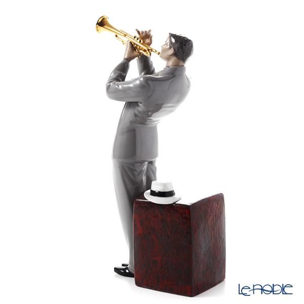 Lladro 'Jazz Trumpeter / Musician' 09329 Man Figurine H32.5cm