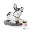 Lladro 'French Bulldog with Macaron (Dog)' 09398 [2019] Animal Figurine H21cm