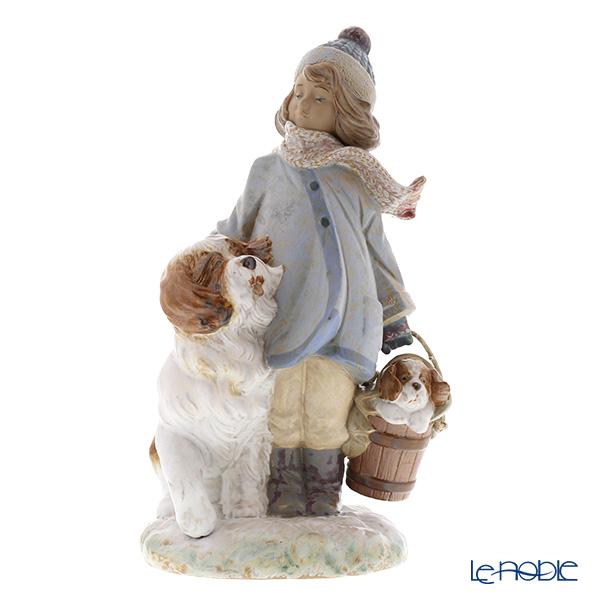 リヤドロ 冬の子供12517(30×17cm)