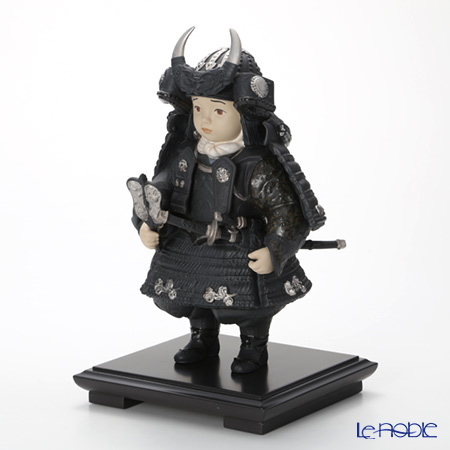 Lladro 'Warrior Boy (Samurai Armor, Sword) / Childrens' Day Japan' Silver 13047 [LE3500] Figurine H35cm