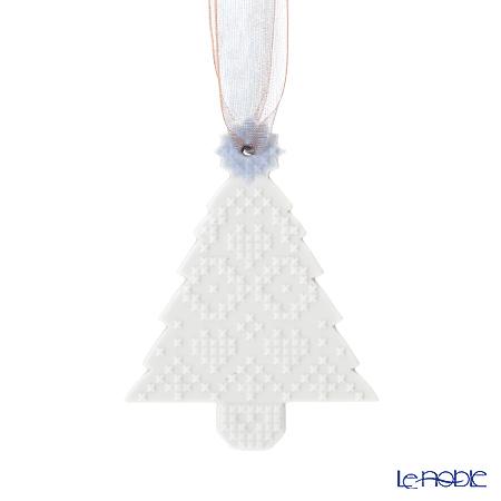 Lladro 'Christmas Tree' White & Blue 18397 Ornament 10cm