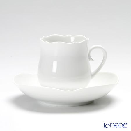 マイセン(Meissen) マイセンホワイト 000001/23582コーヒーカップ&ソーサー 150cc