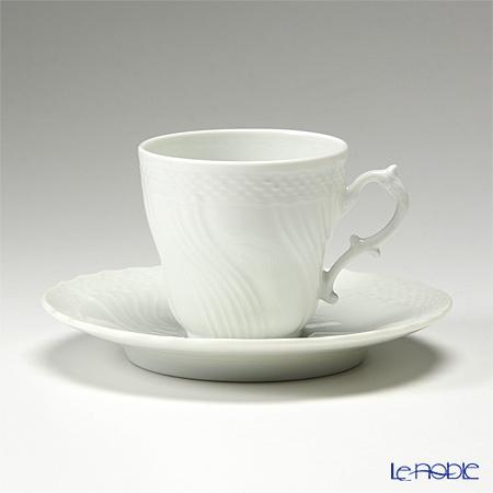 Ginori 1735 / Richard Ginori 'Vecchio Ginori' White Coffee Cup & Saucer 125ml