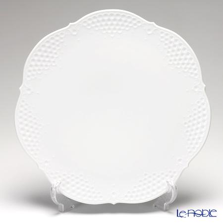 マイセン(Meissen) ホワイトレリーフ 000001/26511 ラウンドプラター