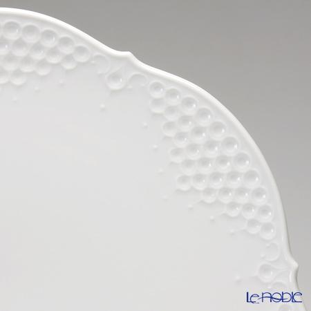 マイセン(Meissen) ホワイトレリーフ 000001/26511ラウンドプラター