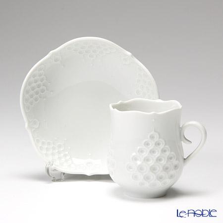 マイセン(Meissen) ホワイトレリーフ 000001/26581モカカップ&ソーサー