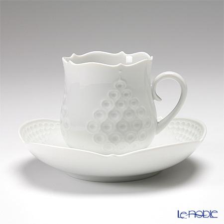 マイセン(Meissen) ホワイトレリーフ 000001/26582 コーヒーカップ&ソーサー 150cc