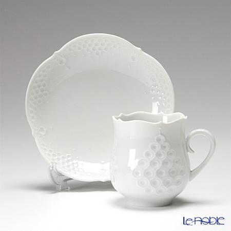 マイセン(Meissen) ホワイトレリーフ 000001/26582コーヒーカップ&ソーサー 150cc
