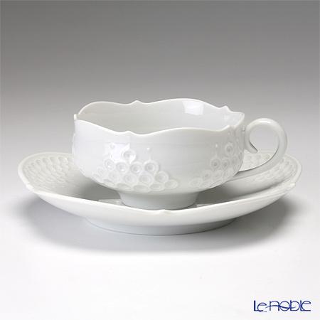 マイセン(Meissen) ホワイトレリーフ 000001/26633 ティーカップ&ソーサー 150cc