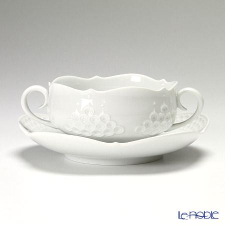 マイセン(Meissen) ホワイトレリーフ 000001/26655 スープカップ&ソーサー 250cc