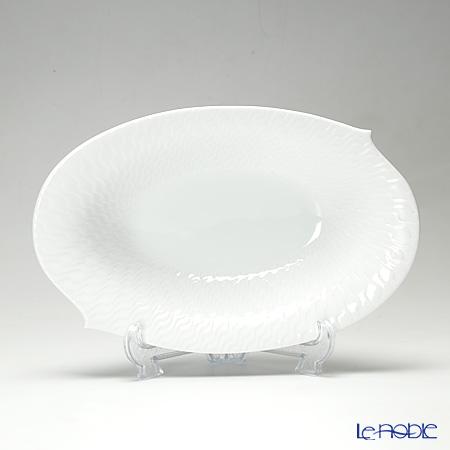 マイセン(Meissen) 波の戯れホワイト 000001/29281 オーバルディッシュ 28cm