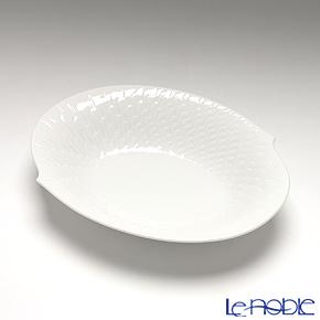 マイセン(Meissen) 波の戯れホワイト 000001/29284オーバルディッシュ 18cm