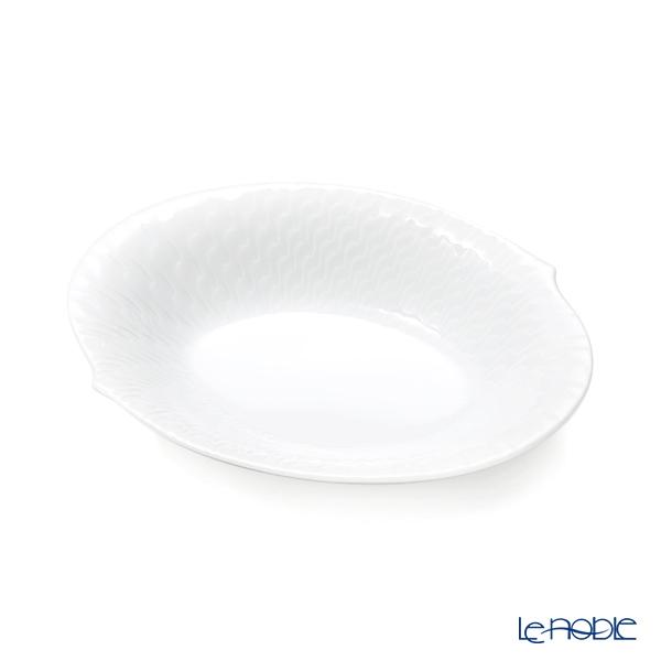 マイセン(Meissen) 波の戯れホワイト 000001/29284 オーバルディッシュ 18cm