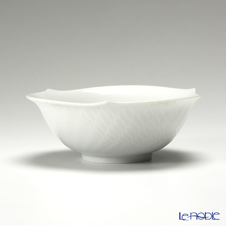 マイセン(Meissen) 波の戯れホワイト 000001/29411 サラダボウル 14.5cm