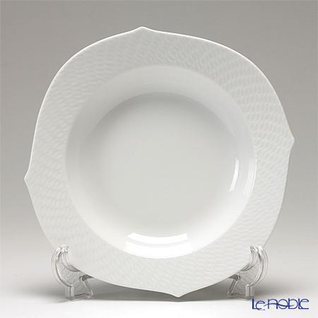 マイセン(Meissen) 波の戯れホワイト 000001/29488 スーププレート 23cm