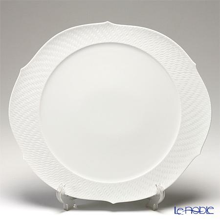 Meissen Waves Relief White 000000 / 29511 38.5 Cm Round Flat Plate