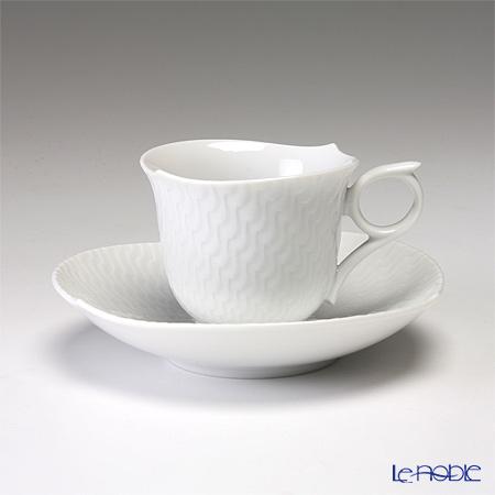 マイセン(Meissen) 波の戯れホワイト 000001/29579 エスプレッソカップ&ソーサー 100cc