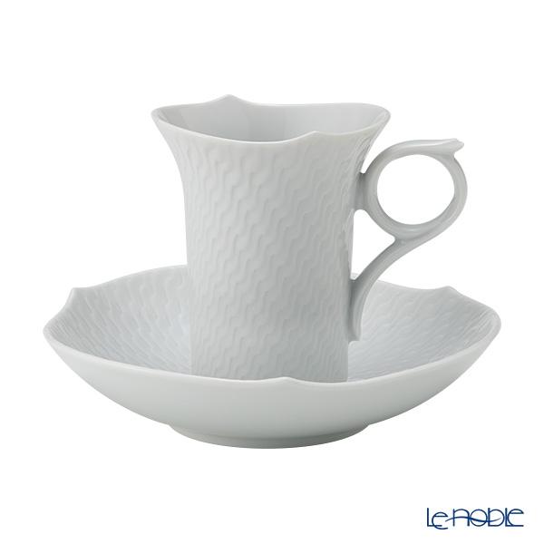 マイセン(Meissen) 波の戯れホワイト 000001/29580 モカカップ&ソーサー