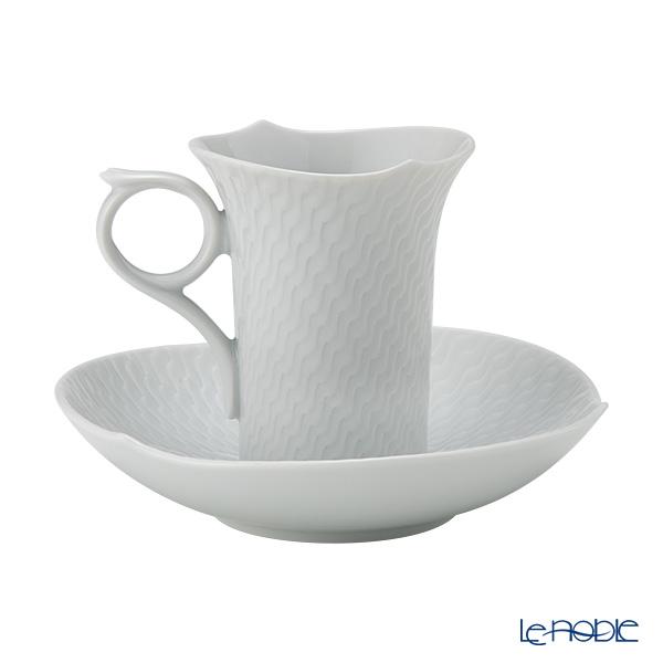 マイセン(Meissen) 波の戯れホワイト 000001/29580モカカップ&ソーサー