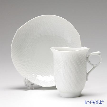 マイセン(Meissen) 波の戯れホワイト 000001/29582コーヒーカップ&ソーサー 180cc