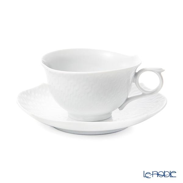 マイセン(Meissen) 波の戯れホワイト 000001/29633ティーカップ&ソーサー 170cc