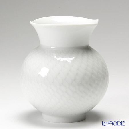 マイセン(Meissen) 波の戯れホワイト 000001/50142 ベース(花瓶) 13.5cm