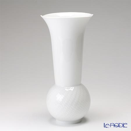 マイセン(Meissen) 波の戯れホワイト 000001/50310 ベース(花瓶) 30cm