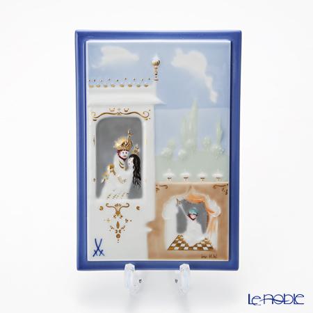 マイセン(Meissen) 陶板 千夜一夜 930011/9p312 塔の上の王子様と王妃 15×10cm