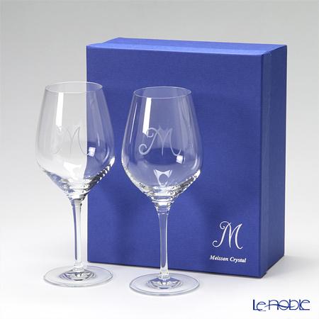 マイセン(Meissen) マイセンクリスタル M 38102 ワイングラス 21.5cm ペア