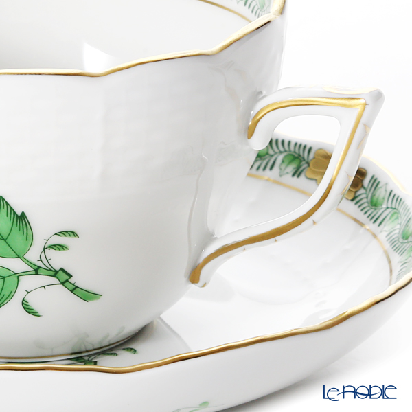 Herend 'Chinese Bouquet Historic Green / Apponyi' AHV 00730/706 Tea / Coffee Cup (combined) & Saucer 200ml