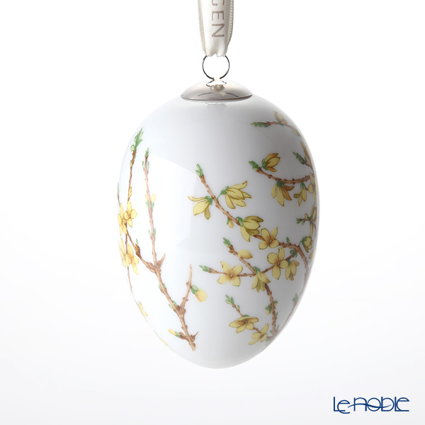 Royal Copenhagen 'Spring Collection - Forsythia' 1249997/1024789 [2018] Easter Egg (L) 10cm