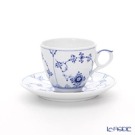 ロイヤルコペンハーゲン(Royal Copenhagen) ブルー フルーテッド プレイン モカカップ&ソーサー 100ml 1101053