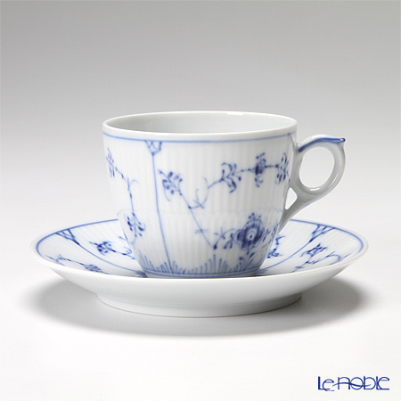 Royal Copenhagen 'Blue Fluted Plain' 1101071/1017173 Coffee Cup & Saucer 160ml