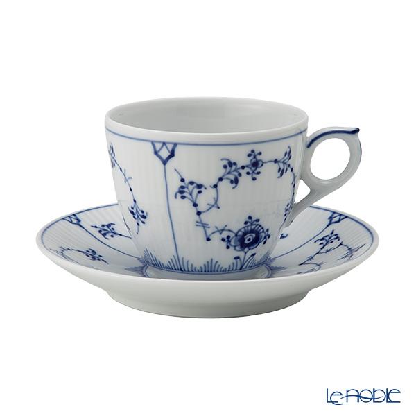 ロイヤルコペンハーゲン(Royal Copenhagen) ブルー フルーテッド プレイン コーヒーカップ&ソーサー 160cc 1101071/1017173