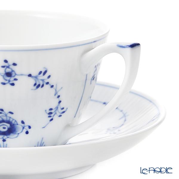 ロイヤルコペンハーゲン(Royal Copenhagen) ブルー フルーテッド プレインカップ&ソーサー 280ml 1101086/1016757