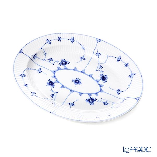 ロイヤルコペンハーゲン(Royal Copenhagen) ブルー フルーテッド プレイン ディッシュ(楕円) 30cm 1101373