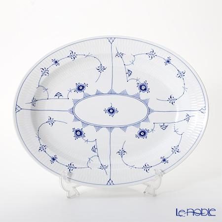 ロイヤルコペンハーゲン(Royal Copenhagen) ブルー フルーテッド プレイン ディッシュ(楕円) 36.5×29cm 1101375/1017186