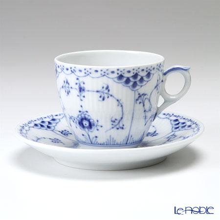 ロイヤルコペンハーゲン(Royal Copenhagen) ブルー フルーテッド ハーフレース コーヒーカップ&ソーサー 170cc 1102071/1017205