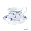 Royal Copenhagen 'Blue Fluted Half Lace' 1102092/1055308 High Handle Tea Cup & Saucer 240ml