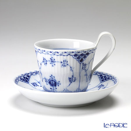 Royal Copenhagen 'Blue Fluted Half Lace' 1102095/1017207 High handle Cup & Saucer 170ml
